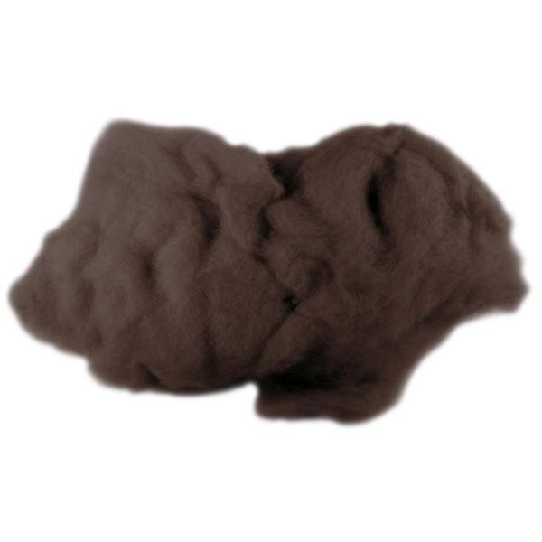 Krempelwolle max. 27mic 500g dunkelbraun 100% Wolle vom neuseeländischen Merinoschaf