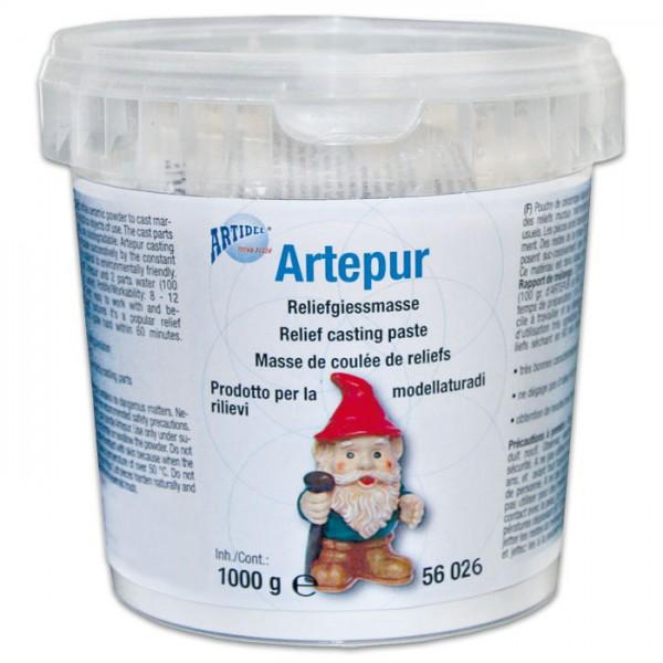 Artepur Modellgips 1kg weiß