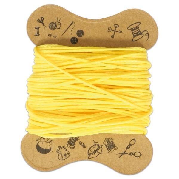 Kordel gewachst 0,5mm 10m gelb 90 % Polyesterfaser/10 % Baumwolle