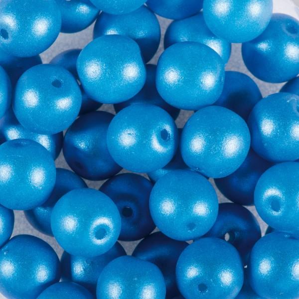 Glasperlen Schimmer 8mm 25 St. hellblau Lochgröße ca. 0,9mm