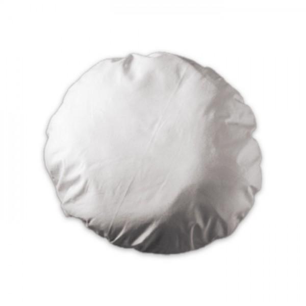 Kissenhülle rund Ø ca. 40cm gebleicht 100% Baumwolle