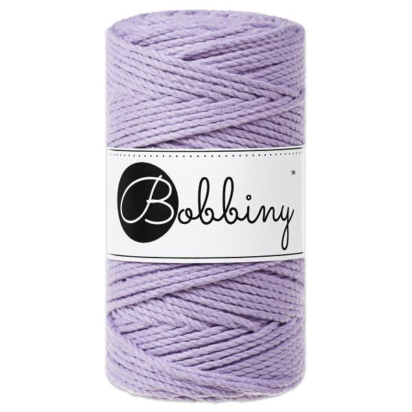 Bobbiny 3PLY Makramee Kordel Ø3mm lavender ca. 300g-400g, 100% Baumwolle, LL 100m, 3x20 Fasern