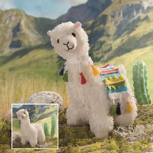 Creativ-Set Kleines Lama ca. 23x16cm Plüschtier zum selber Stopfen
