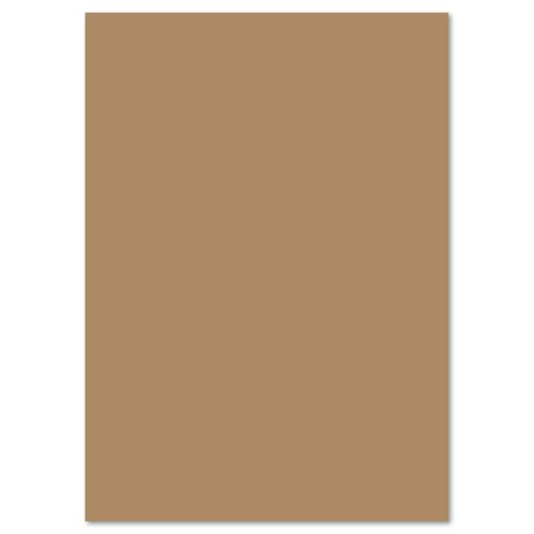 Tonkarton 220g/m² DIN A4 100 Bl. rehbraun