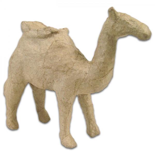 Kamel mit Sattel Pappmaché 13x5x13cm Größe XS, von Décopatch