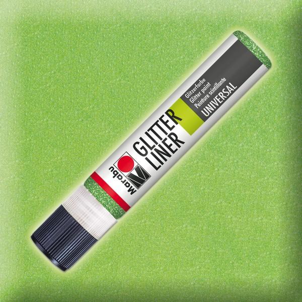 Marabu Glitter Liner 25ml kiwi universelle Effektfarbe