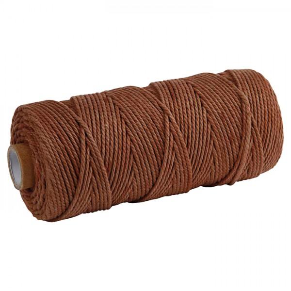 Baumwollkordel 2mm 225g ca. 100m braun 85% Baumwolle, 15% Polyester