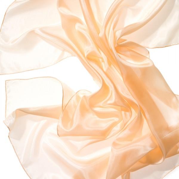 Nickituch Seide Pongé 05 55x55cm apricot 100% Seide