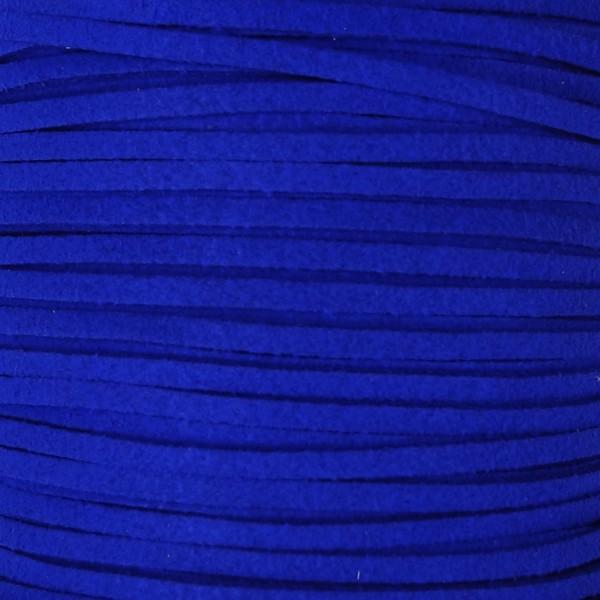 Veloursband textil 1,5 stark 3mm breit 5m blau 100% Polyester