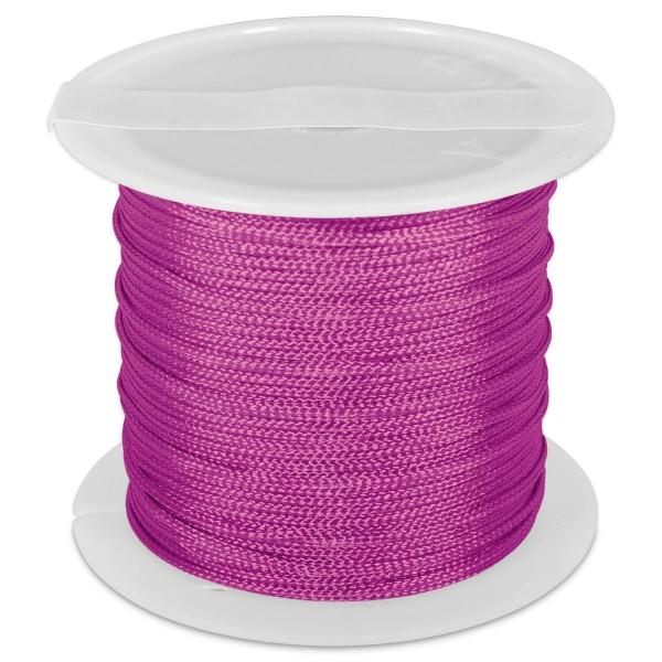 Knüpfgarn glänzend 1mm 5m lila 100% Polyester