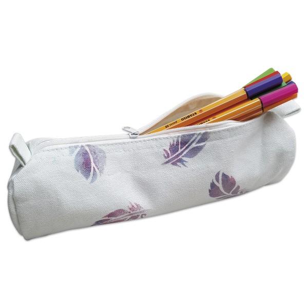 Stiftköcher 22x6cm weiß 100% Baumwolle