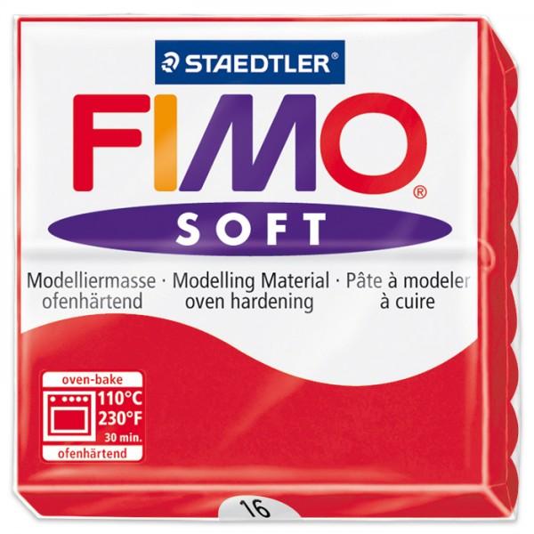 FIMO soft 55x55x15mm 57g indischrot ofenhärtende Modelliermasse