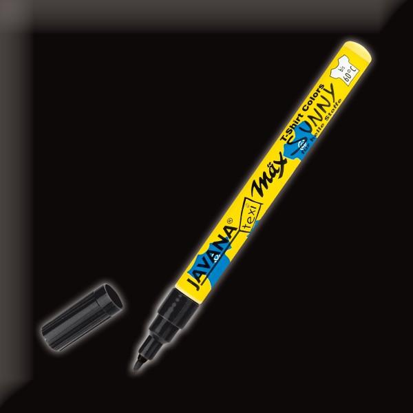 Texi-Mäx Stoffmalstift schwarz Strichbreite 1-2mm