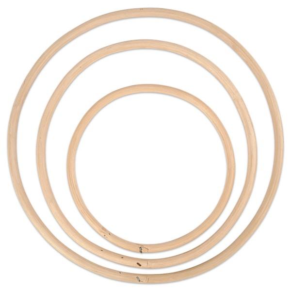 Bambus-Ringe Ø 15,3/20,3/25,5cm 3St.