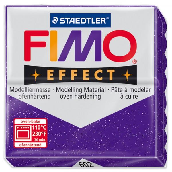 FIMO effect 55x55x15mm 57g glitter lila ofenhärtende Modelliermasse