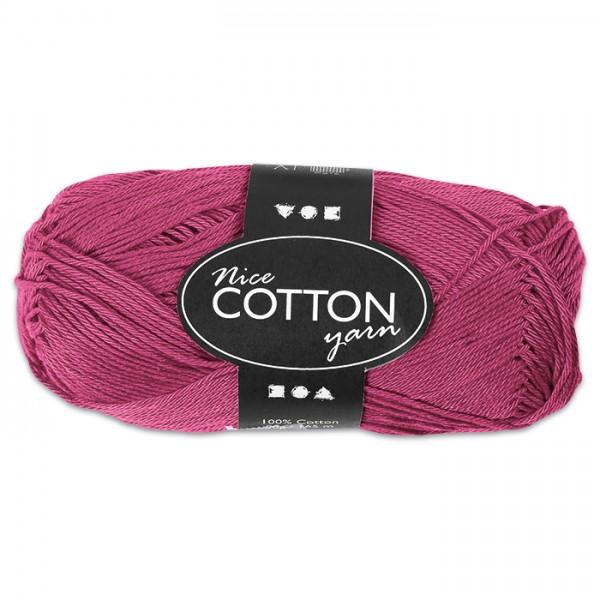 Baumwollgarn 50g lila 100% Baumwolle, für Nadel Nr. 3-3,5