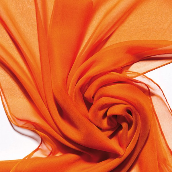 Schal Chiffon 3,5 55x180cm orange 100% Seide