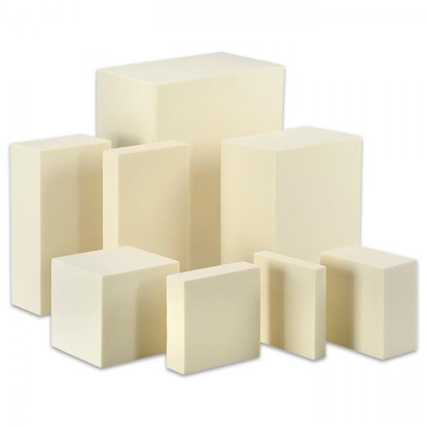 Sculpture Block Kunststoff 30x15x10cm creme
