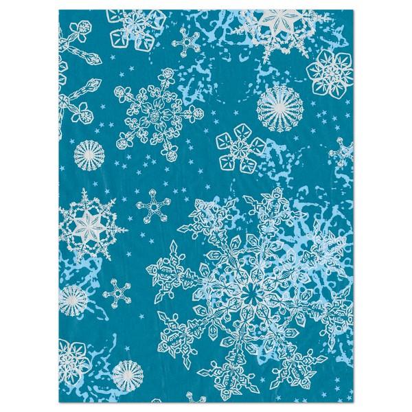 Decoupagepapier Eisblumen blau von Décopatch, 30x40cm, 20g/m²