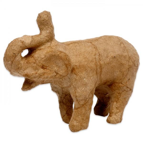 Elefant Pappmaché 13x10x5,5cm