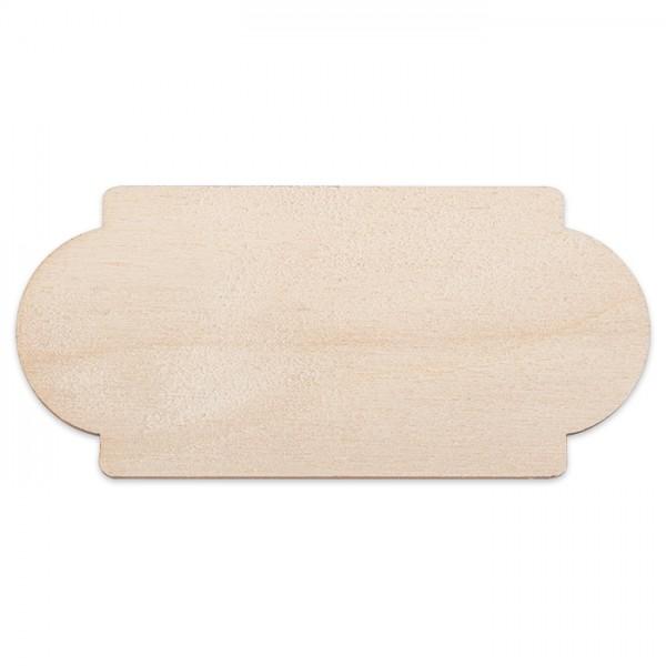 kleines Türschild Holz 3mm 3,5x7,5cm natur