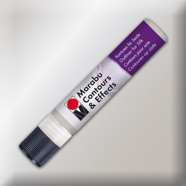 Contours & Effects 25ml metallic-silber Konturenfarbe für Seide