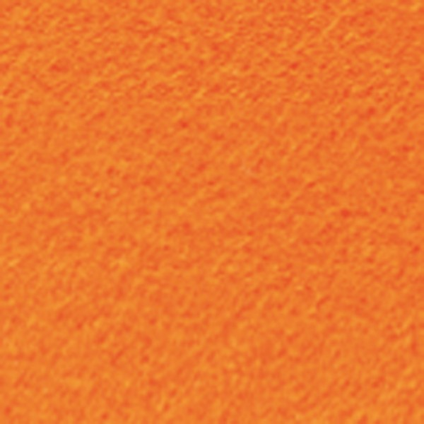Bastelfilz ca. 1mm 45cm 5m Rolle orange 150g/m², 100% Polyester, klebefleckenfrei