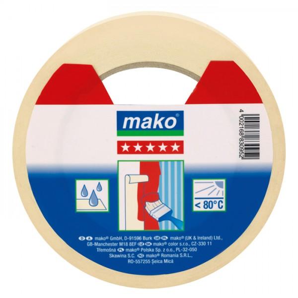 mako Malerkrepp/Abdeckklebeband 30mm 50m feingekreppt, nassfest