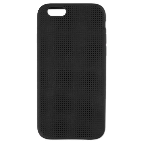 Handy-Hülle Silikon 8x68x138mm gelocht schwarz zum Besticken