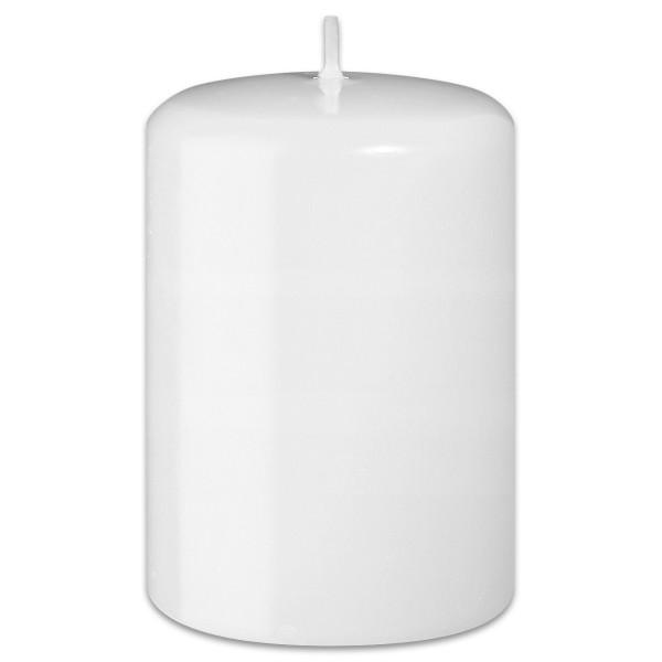 Stumpenkerze 60mm hoch Ø 40mm weiß Brenndauer ca. 9 Std.