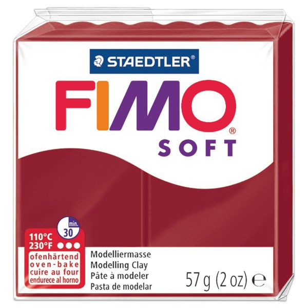 FIMO soft 55x55x15mm 57g kirschrot ofenhärtende Modelliermasse