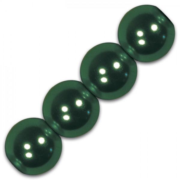Wachsperlen 8mm 32 St. tanne Kunststoff, Lochgr. ca. 1,5mm
