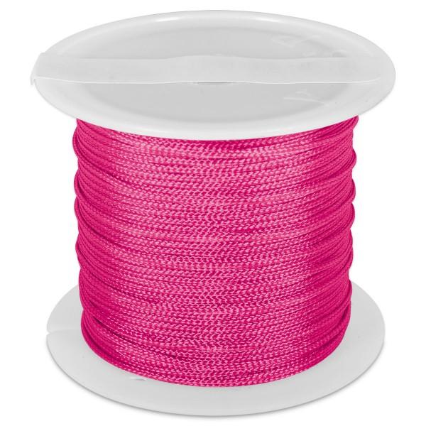 Knüpfgarn glänzend 1mm 5m fuchsia 100% Polyester
