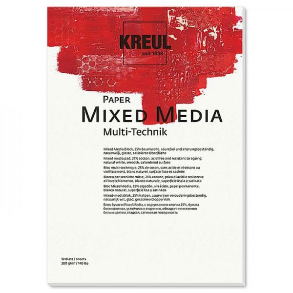 Paper Mixed Media 300g/m² DIN A3 10 Bl. naturweiß Künstlerblock