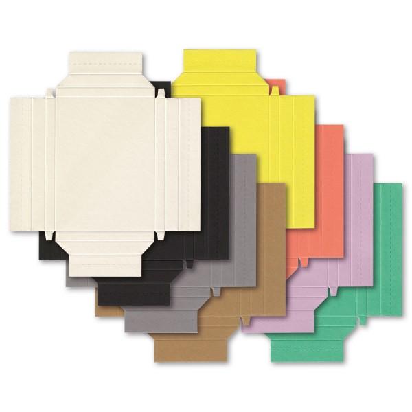 Little Paper Frames 12x9cm 48 St./8 Farben Rechteck kleine Bilderrahmen Karton, Ausschnitt 6,8x9,7cm