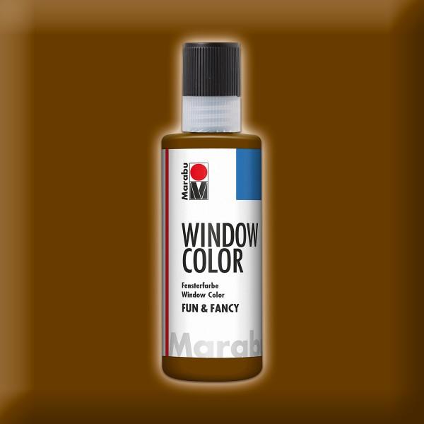 Marabu fun&fancy 80ml dunkelbraun Windowcolor