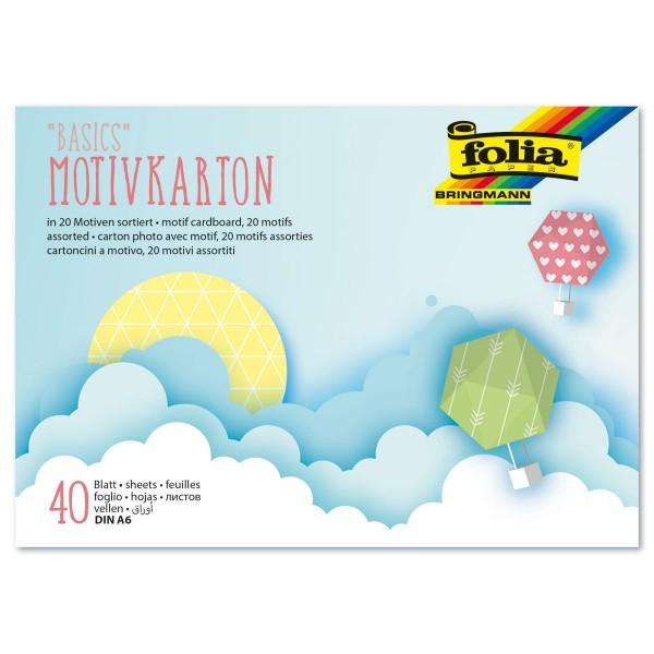 Motivblock Basics I 250g/m² DIN A6 40 Bl./20 Designs