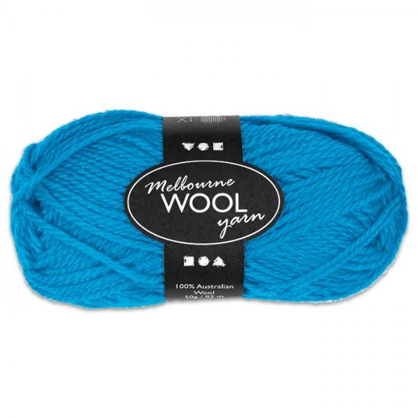 Garn Melbourne Filzwolle 50g hellblau 100% Wolle, LL 92m, Nadel Nr. 4