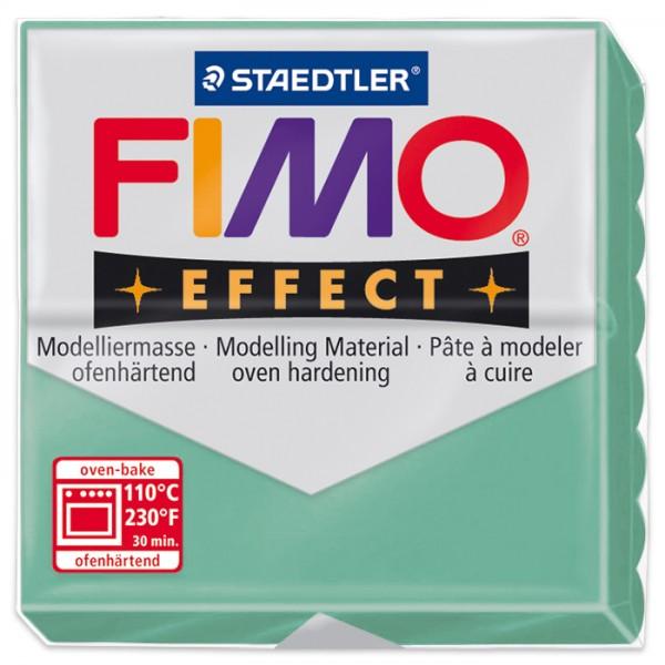 FIMO effect 55x55x15mm 57g Edelsteinfarben jade ofenhärtende Modelliermasse