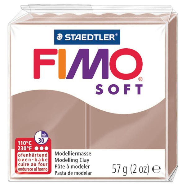 FIMO soft 55x55x15mm 57g taupe ofenhärtende Modelliermasse