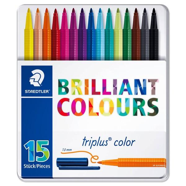 triplus color 323 Dreikantform 15 Fasermaler Strichbreite 1mm