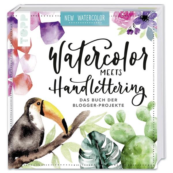 Buch - Watercolor meets Handlettering 160 Seiten, 23,6x22,2cm, Hardcover
