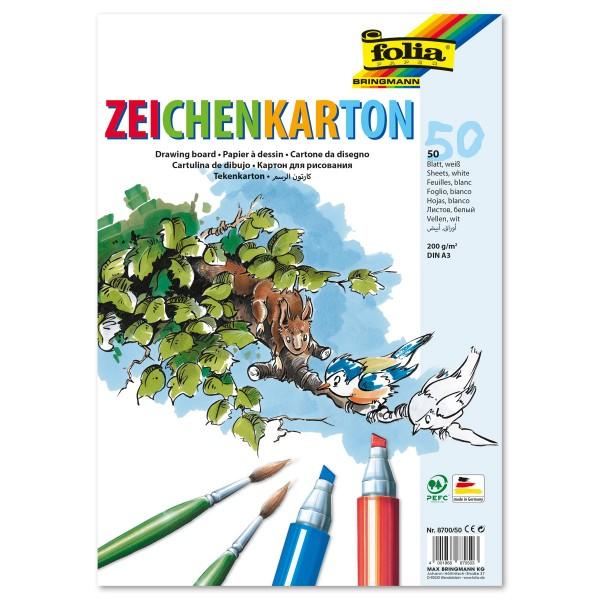Zeichenkarton 200g/m² DIN A3 50 Bl. weiß