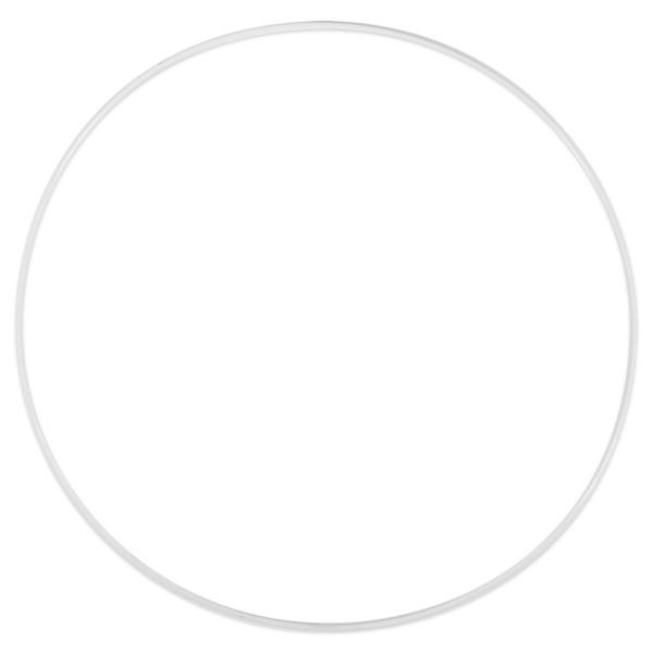 Metallring/Drahtring rund weiß 3mm Ø 25cm