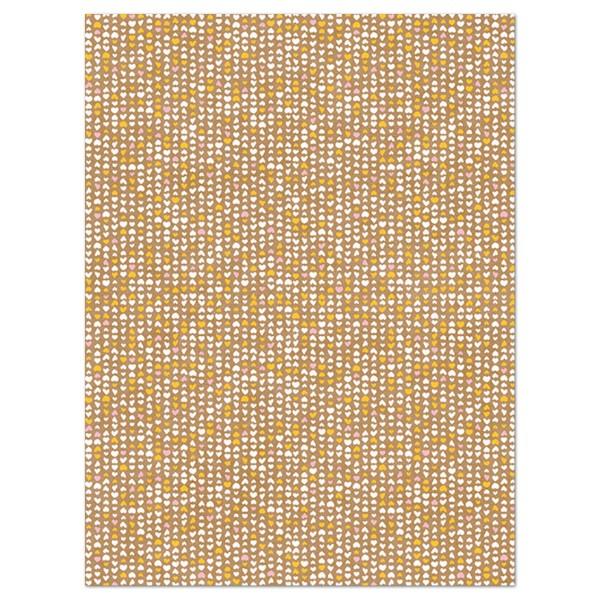 Decoupagepapier Texture braun mit Herzen von Décopatch, 30x40cm, mit Metalliceffekt