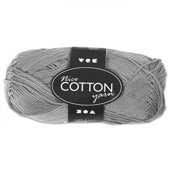 Baumwollgarn 50g grau 100% Baumwolle, für Nadel Nr. 3-3,5
