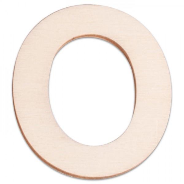 Holzbuchstabe O ca. 3mm 6cm hoch natur