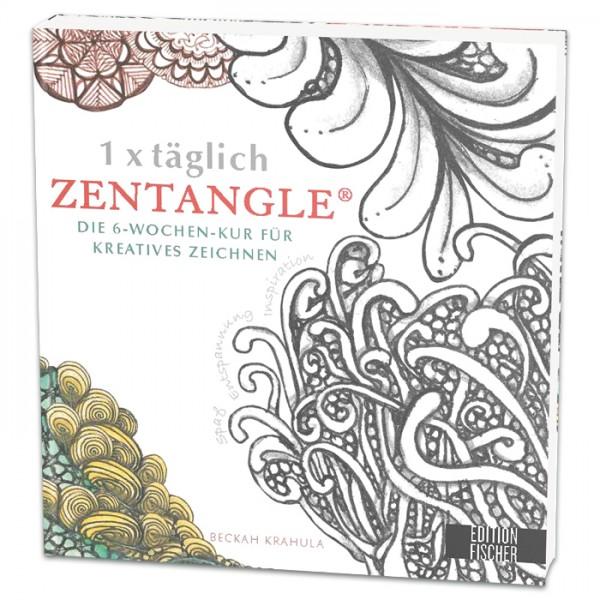 Buch - 1 x täglich Zentangle 128 Seiten, 22x23cm, Softcover