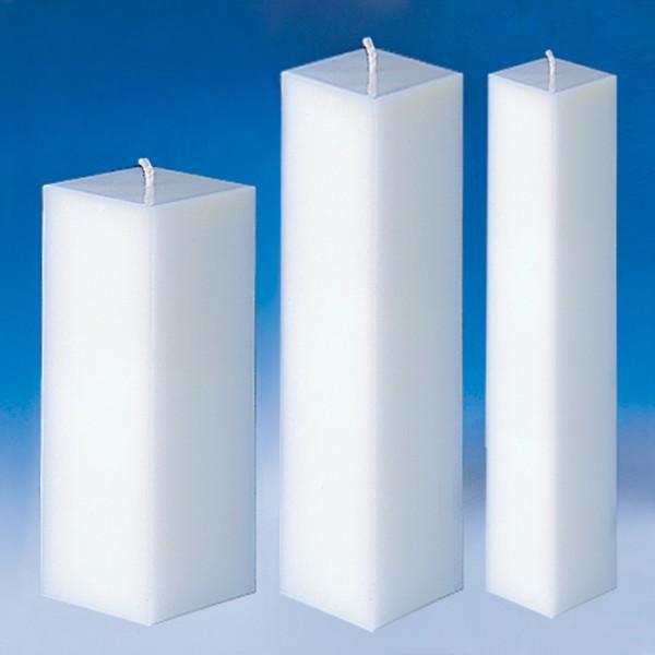 Kerzengießform 60x60x160mm quadratisch bruchsicherer Kunststoff, hitzebeständig bis 120°C