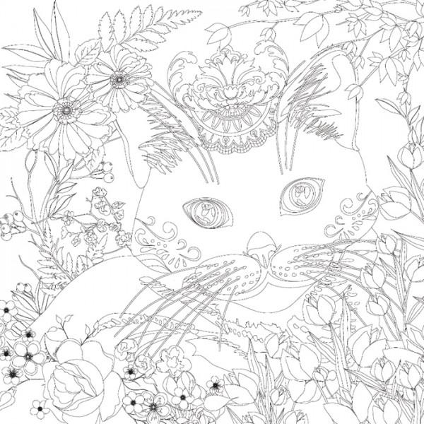 bedruckter Keilrahmen 30x30x2cm Katze